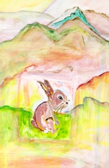 Rabbit In The Landscape (crop) oil