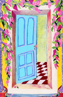 First Door - The Blue Door 57x38 in. acrylic