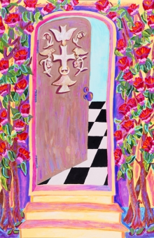 Second Door - The Carved Door 57x38 in. acrylic