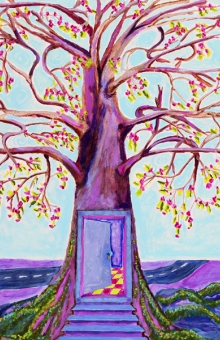 Fourth Door - The Springtree 37x29 in. acrylic