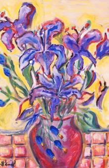 Purple Lilies 30x20 oil