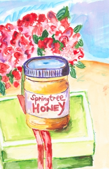 Springtree Honey 10x10 in. watercolor