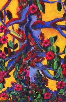 Blue Tree Vines 28x18 oil