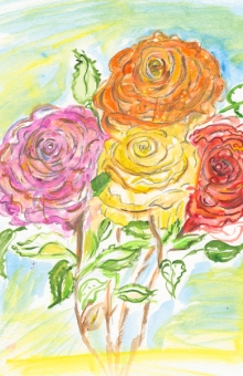 Four Roses 13x10 in. watercolor