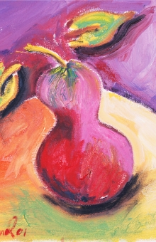 Pear 2 of 4 12x12 in. oil