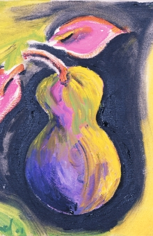 Pear 3 of 4 12x12 in. oil